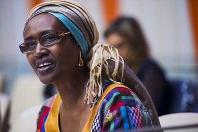 Winnie Byanyima lors d'un événement de l'ONU sur l'autonomisation économique des femmes.