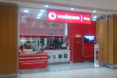 Vodacom shop in Cape Town International Airport (file photo).