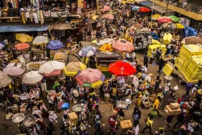 Un marché à Accra.