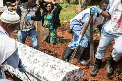 As part of the response to the outbreak of Ebola, the Red Cross has been working with the World Health Organization and the Ministry of Health of the Democratic Republic of the Congo to ensure safe burials to help stop the spread of the deadly disease.