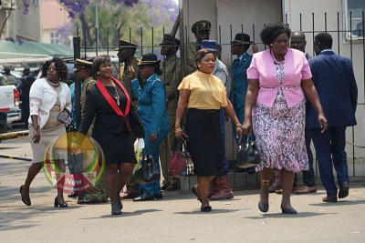 MDC MPs walking out of parliament during President Emmerson Mnangagwa's SONA speech presentation.