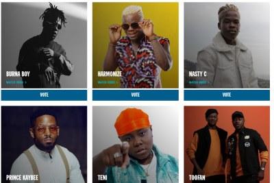 MTV EMA nominees.