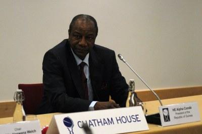 Alpha Condé, President of the Republic of Guinea