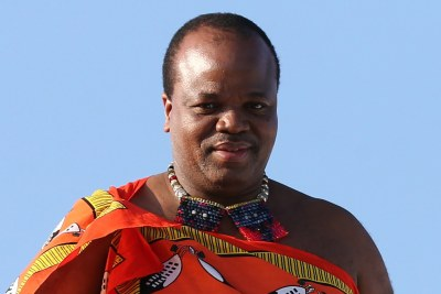 King Mswati III of Eswatini welcomed at Sochi International Airport as he arrives to take part in the 2019 Russia-Africa Summit in Sochi, Russia, 23 October 2019.