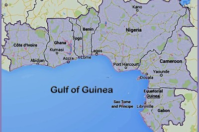 West African Nations with coastlines on the Gulf of Guinea.