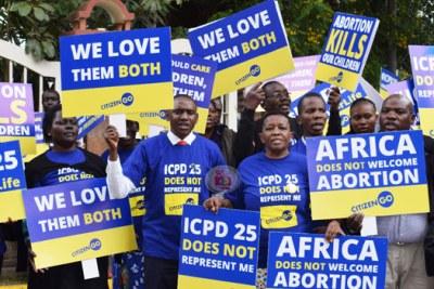 Anti-abortion protestors (file photo).