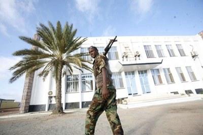 Un soldat somalien