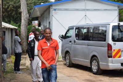 Embakasi East MP Babu Owino at Kilimani Police Station in Nairobi (file photo).