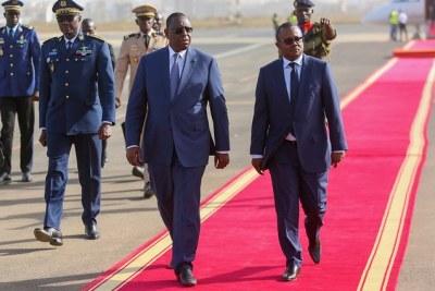 Arrivée à Dakar de SEM le Président Umaro Sissoco Embalo de la Guinée Bissau, le mardi 10 mars 2020.