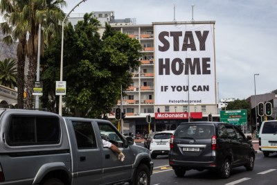 A billboard at the top end of Long Street in Cape Town (file photo).