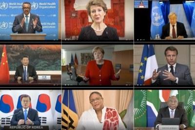 Visioconférence de la 73e assemblée annuelle de l'Organisation mondiale de la Santé (OMS)