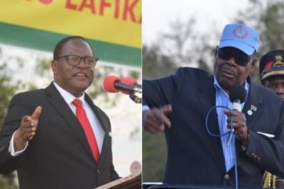 President Lazarus Chakwera and former president Peter Mutharika.
