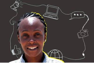 La journaliste et blogueuse nigérienne Samira Sabou