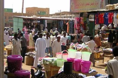 A market in  Omdurman in Sudan.
