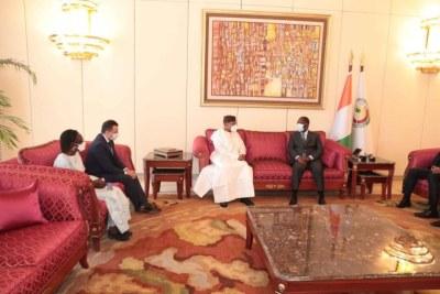 La rencontre du Dr Mohamed Ibn Chambas avec le Président ivoirien, Alassane Ouattara