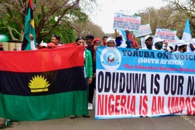 Des Manifestants Yoruba (Photo d'archives)