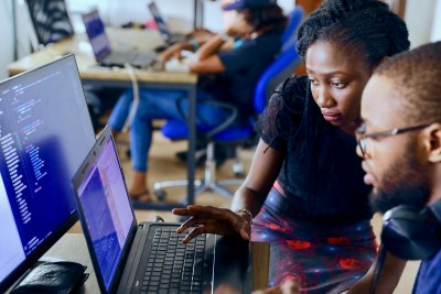 Computer software coders in Nigeria: Despite the coronavirus, Africa's potential and the resourcefulness of its people remain intact, says the IMF, and tapping this potential will be vital if the region is to find its way back to a path of sustainable and inclusive development.