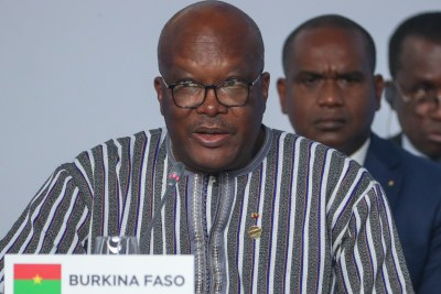 Burkina Faso President Roch Marc Christian Kabore at the first plenary session of the 2019 Russia-Africa Summit at the Sirius Park of Science and Art in Sochi, Russia, 24 October 2019.