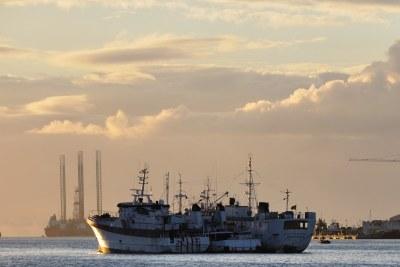 Le port de Port Louis à l'île Maurice.