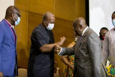 Nana Akufo-Addo left and John Mahama, right (file photo).