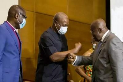 Ghana (illustration), le président sortant Nana Akufo-Addo affronte John Mahama lors du scrutin présidentiel du 7 décembre 2020.