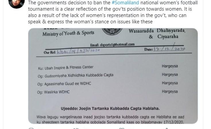 Somalia: Somaliland Cans Female Football Tournament As Un-Islamic -  allAfrica.com
