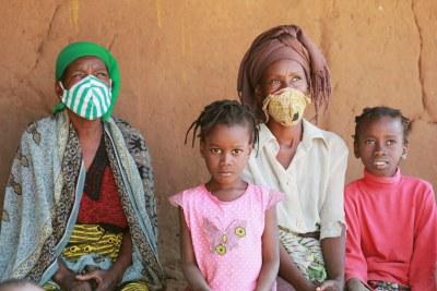Des personnes déplacées dans le quartier d'Alto Gingone, Pemba, province de Cabo Delgado