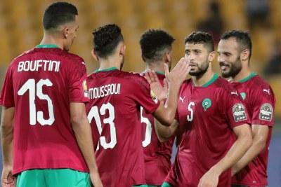 Le Maroc après sa large victoire sur le Cameroun en demi-finales CHAN 2021