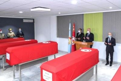 Militaires, tombés en martyrs, mercredi, à la suite de l'exposition d'une mine au Mont Selta.