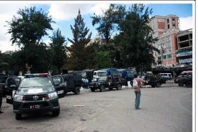 Les forces de l'ordre ont été de nouveau présentes à Ambohijatovo, avant-hier.