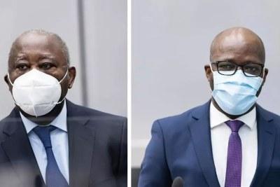 Laurent Gbagbo et Charles Blé Goudé à la Cour pénale internationale, le 31 mars 2021.