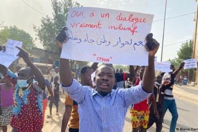 Manifestations à N'Djamena du 27 Avril 2021