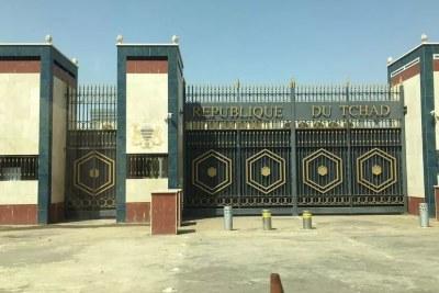 Le palais présidentiel tchadien, dans le quartier Djambel Bahr, Ndjamena, mai 2021.