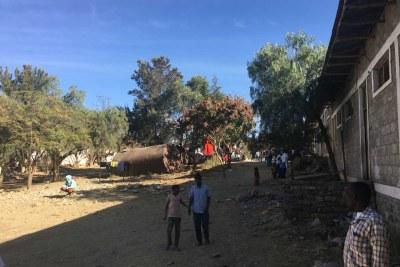 L'école Kissanet à Mekelle, en Éthiopie, abrite des centaines de personnes déplacées.