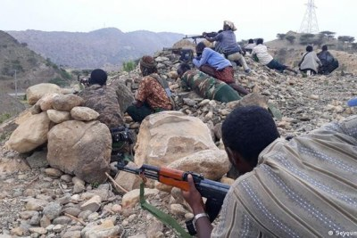 Ethiopian army special forces and militia fighting in the Afar region.